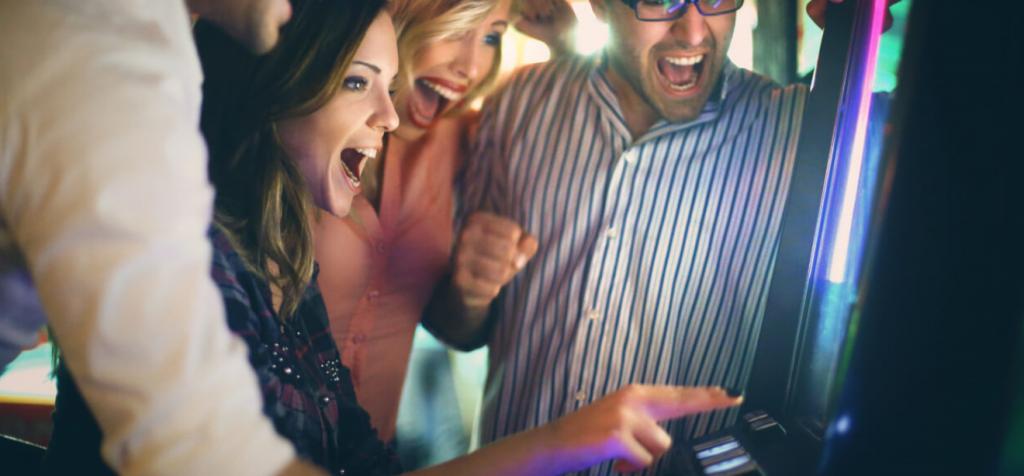 Spelautomater och glädje vid vinst